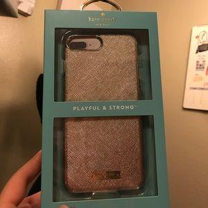 Kate spade gold iPhone 7/8 Plus case♠️